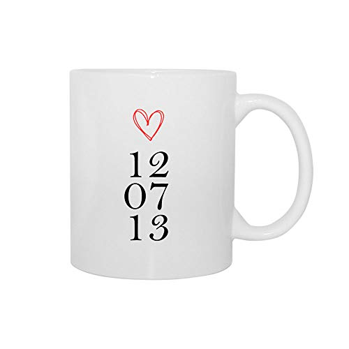 Tazas personalizadas amor y fecha, románticas para parejas regalo San Valentín
