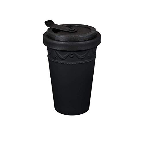 KURLAND to-Go Becher Porzellan von KPM Berlin - Kaffeebecher to-Go - Tee to-Go - Handmade & als Geschenk verpackt - das umweltfreundliche Stil-Statement für Kaffee & Tee - Schwarz