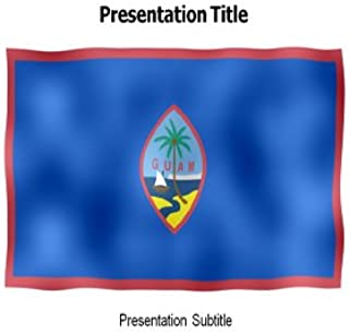 Guam Animated Flag Powerpoint Templates - Powerpoint Animated Flag on Guam