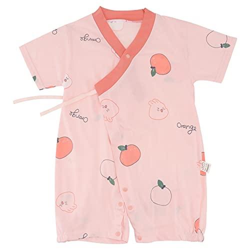 TOYANDONA Macaquinho para bebê recém-nascido de manga curta, macacão infantil de uma peça, roupas para bebês meninos e meninas de 0 a 18 meses