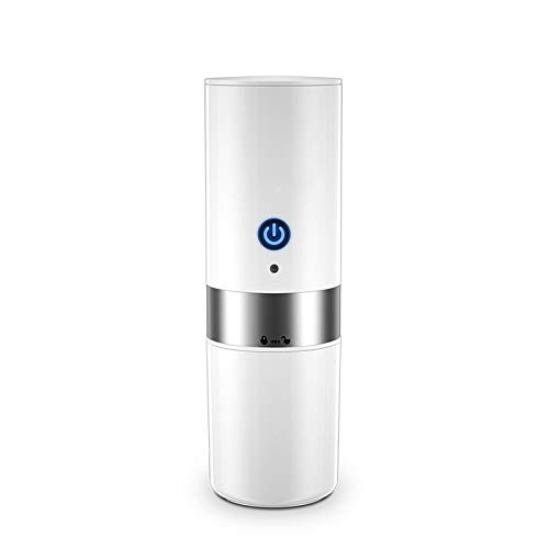 W.zz Elektrische Kaffeemaschine Portable Mit Smart One-Click-Auto-Ladegerät 80Ml Fassungsvermögen Edelstahl-Liner Und Anti-Rutsch-Gummi Leicht Zu Reinigen Für Camping Reisebüro,Weiß