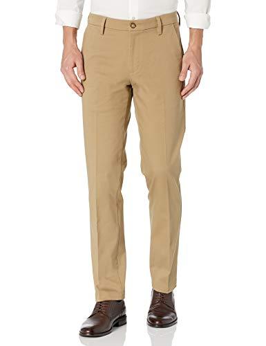Dockers Men's Straight Fit Workday Smart 360 Flex Pants, New British Khaki (Stretch) -Tan, 34W x 32L