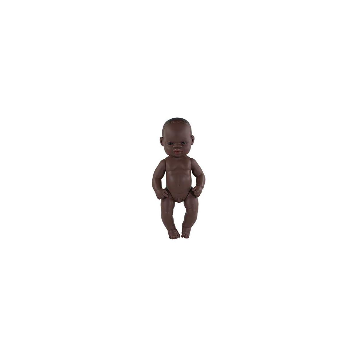 Miniland-Baby-Africano-Nino-32cm-Muneco-Color-Piel-31033