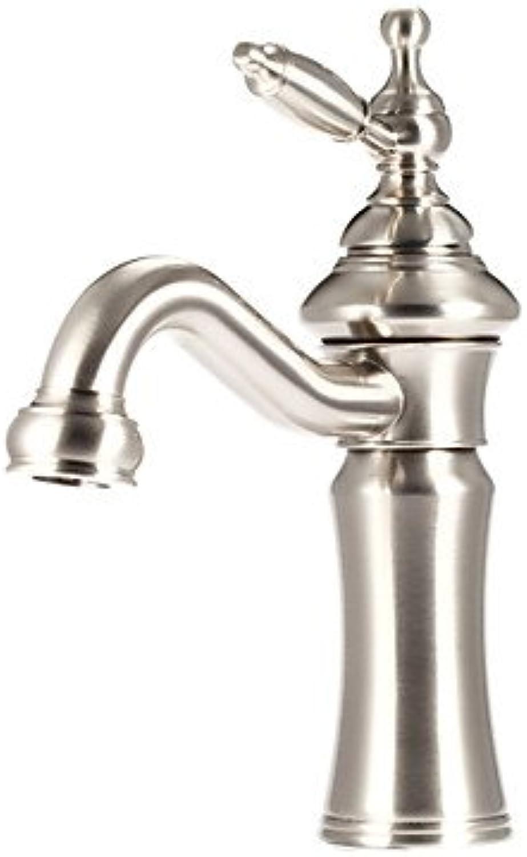Bathroom Sink Faucet Antique Brass Single Handle Centerset