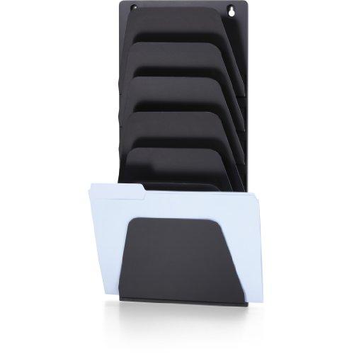 Officemate Wall File Holder, Letter/Legal, 7 Pockets, Black (21505)