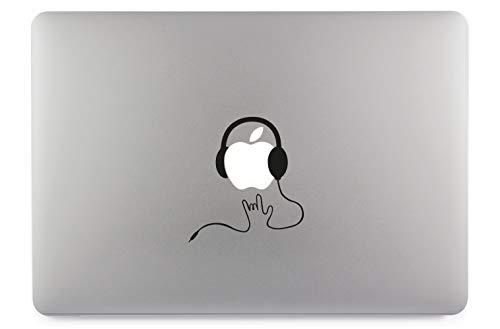 Headset rock hoofdtelefoon rok sticker skin decal sticker vinyl geschikt voor Apple MacBook Air Pro notebooks laptops Apple, auto, gladde oppervlakken