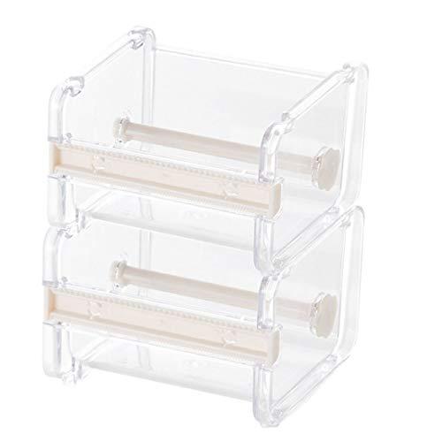 Dometool - Portarrollos de cinta adhesiva con cortados, organizador de mesa de escritorio, 2 unidades