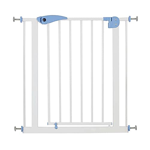 Youyijia Safety Gate 80 to 91cm Extending Metal Safety Gate with Separate Extensions Pressure Fit Safety Gate for Doors and Stairs(Blue)