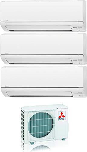 Climatizzatore 9000 + 9000 + 12000 Btu Trial Split Inverter con Pompa di Calore Classe A++/A