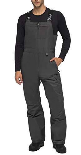 ARCTIX Men's Avalanche Athletic Fit Insulated Bib Overalls, Charcoal, Small