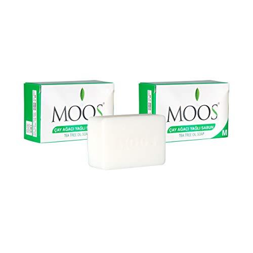 MOOS Zeep met tea tree olie Pak van 3 (100 gr X 3) Acne en mee-eters