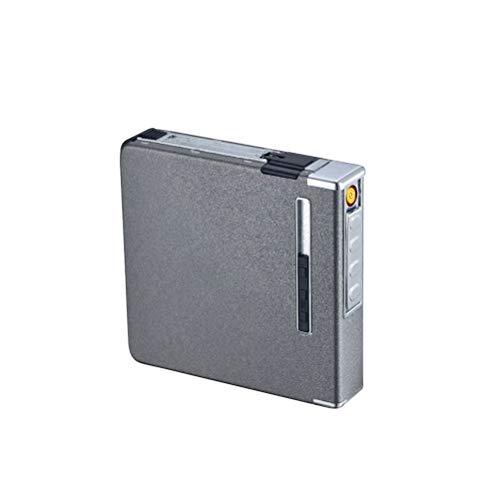 ARTOCT Zigarettenetui mit Feuerzeug Zigarettenschachtel Tragbare 20-teilige schlanke Zigaretten USB-Feuerzeuge 2 in 1 wiederaufladbares flammenloses winddichtes elektrisches Feuerzeug