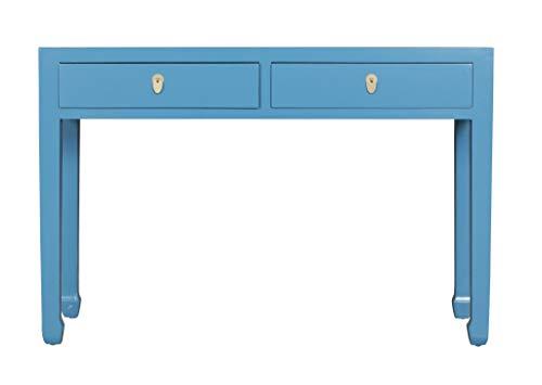 Fine Asianliving Chinesische Konsolentisch Orientalische Möbel Beistelltisch Dekotisch Konsole Telefontisch Tischchen Sofatisch aus Holz Kaffeetisch Couchtisch Sidetable 120 x 35 x 80cm