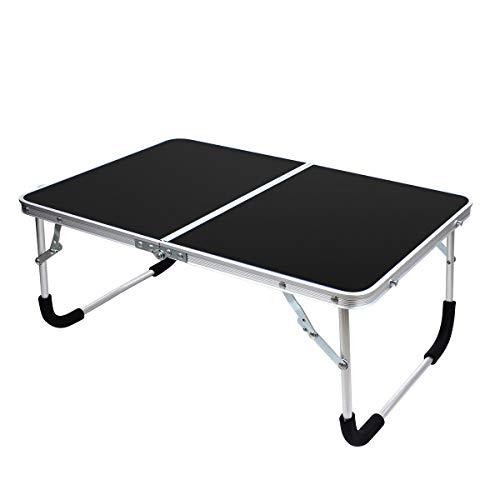 YOLER アウトドア 折りたたみテーブル キャンプ コンパクト ミニテーブル ピクニック 車中泊 (ブラック)