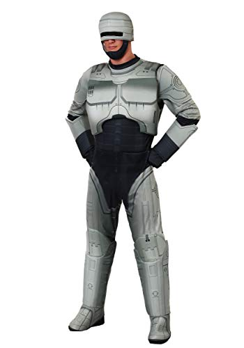 Men's Robocop Polyester Jumpsuit Costume with Foam Armour/Padding