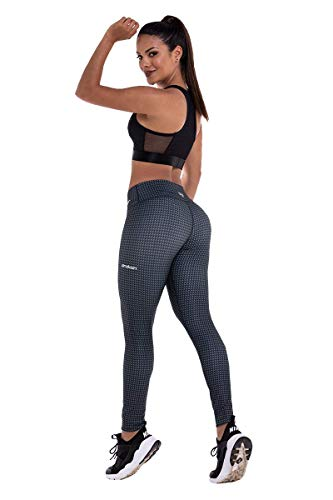 Drakon Colombian Workout high Waisted Leggings for Women | Compression Tight Crossfit Yoga Pants Many Styles (CarbonFiber)