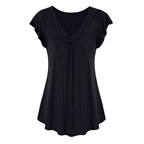 Luckycat Mujer Camiseta Deportiva Camiseta Mangas Corta Top Deportivo Mujer Camisas Mujer de Vestir Camiseta Tirantes Mujer Basica Gym t Shirt Sportshirt Blusas Mujer Tallas Grandes