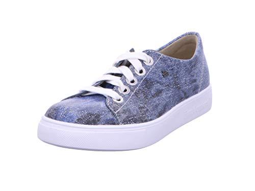 Finn Comfort Elpaso Damen Halbschuhe Schnürschuhe blau Jeans/Hippie