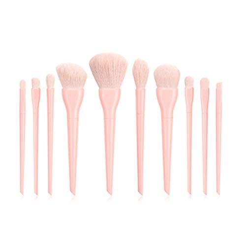 10 Uds juegos de pinceles de maquillaje de lujo para base en polvo, colorete, sombra de ojos, corrector, pincel de maquillaje para ojos, cosméticos, herramienta de belleza