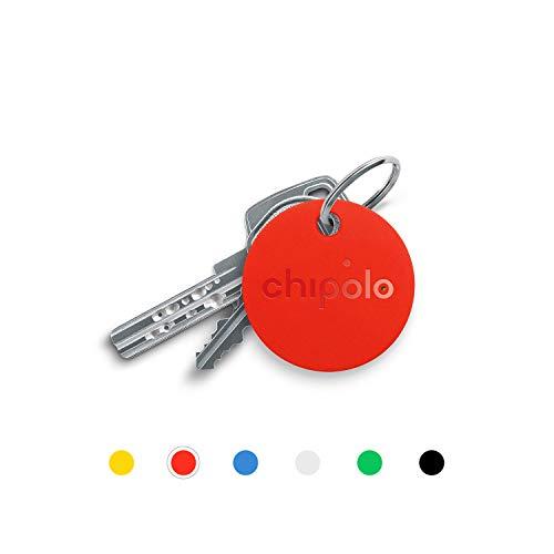 Chipolo Classic Bluetooth Schlüsselfinder und Handyfinder, Austauschbare Batterie, 92dB Laut, 60m Reichweite I Schlüssel nie wieder verlieren - (Rot)