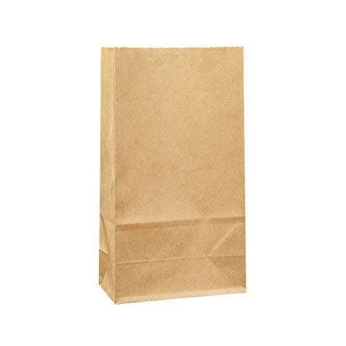 CHENGXI 100 Stück 65g Kraftpapiertüte Geschenktüte Kühlschrank Aufbewahrung Verpackungstasche Lebensmittelverpackung Papier Brot Laib Tasche(Size:5.1 * 3.1 * 9.4 inches)