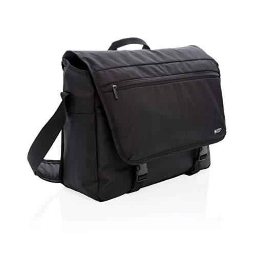 Swiss Peak Laptop Messenger Bag, 15.6 Inch Laptop Shoulder Bag for Men and Women, Black
