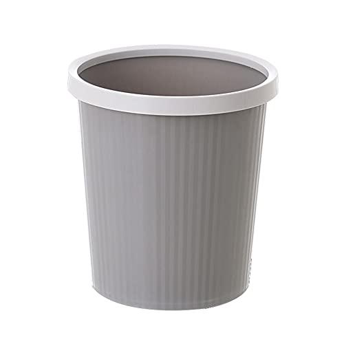 Trash Can Bote de Basura Redondo conciso, Bote de Basura doméstico sin Tapa, Bote de Basura de plástico, Dormitorio, Oficina, Sala de Estar, Bote de Basura de Cocina (22,3 * 17,5 * 24,2 cm)