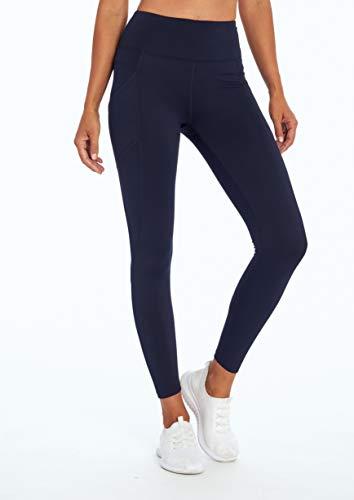 Bally Total Fitness Women's Standard Freeze High Rise Performance Pocket Legging, Midnight Blue, Medium