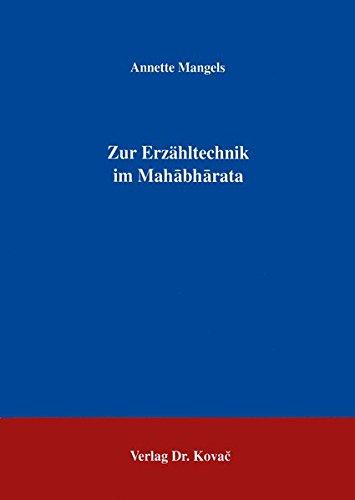 Zur Erzähltechnik im Mahabharata .