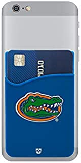 Florida Gators Adhesive Silicone Cell Phone Wallet/Card Holder for iPhone, Android, Samsung Galaxy, Most Smartphones