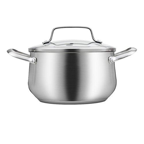 Gaz de cuiseur à Induction de Pot du Pot 304 d'acier Inoxydable pour la Grande capacité épaissie 20/22 / 24cm QIQIDEDIAN (Size : 17.5 * 20CM)