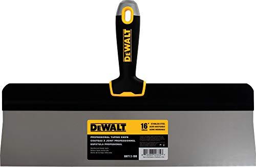 DEWALT 16 Big Back Taping Knife | Stainless Steel w/Soft Grip Handle | DXTT-2-198