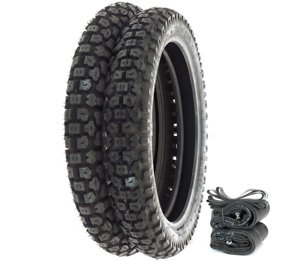 Shinko SR244 Dual Sport Tire Set - Compatible with Honda XR250L SL350K 72-73 XR650L - Tires Tubes and Rim Strips