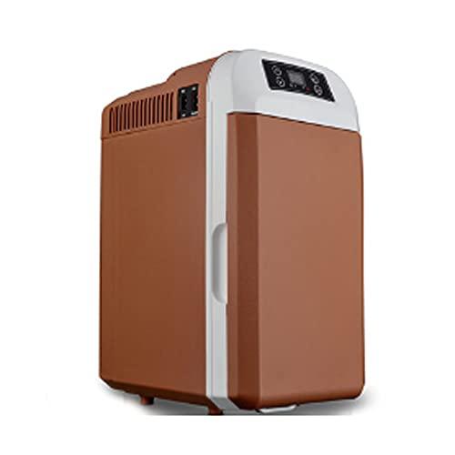 Kanpans Refrigerador con congelador portátil, Refrigerador de automóvil compacto-Refrigerador portátil de CA y CC-Mini refrigerador portátil para viajes al aire libre para acampar-Pequeño mini refrige
