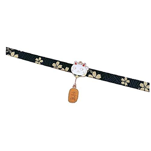 Ruluti Estilo Japonés Collar Gargantilla Collares Traje del Kimono Accesorios Paño Cuello Jewlery De La Mujer