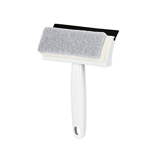 todaytop Cepillo de suelo de mango corto 2 en 1 con rascador y cepillo para bañeras y azulejos para la limpieza de baño, cocina, pared y terraza