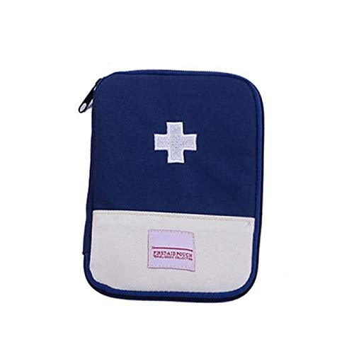 ArtMed Empty First Aid Kit with Inner Pocket Aid Kit Medical for Outdoor Travel Medical Kit First Aid for Office Home First Aid Kit Hiking Camping Emergency Kit Best Survival Organizer (Blue, Small)