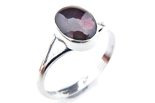 Ring Silber 925 Sterlingsilber Granat rot Stein (Nr: MRI 92), Ringgröße:50