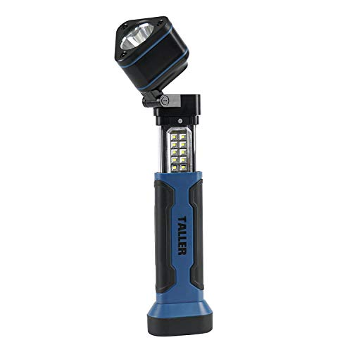 TALLER Rechargeable spotlight,280 Lumen Multi-function work light with extendable design,Waterproof IP20 Rated Flashlights for Outdoor Camping Accessories, Marine Kayak Boat