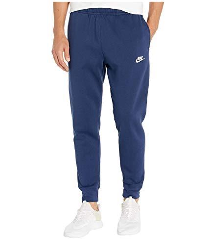 NIKE M NSW Club Jggr BB Pantalones de Deporte, Hombre, Midnight Navy/Midnight Navy/White, L