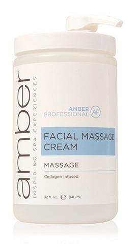 Amber Skincare Collagen Infused Facial Massage Cream, 32 oz