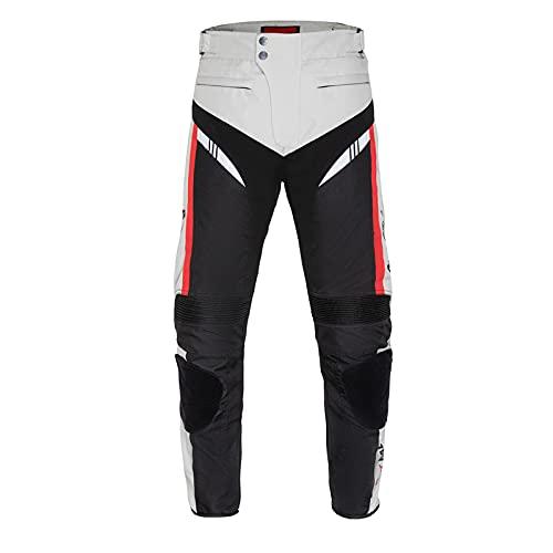 BEDSETS Pantalones de Moto Para Hombre, Pantalones de Mezclilla, Pantalones de Motocross, Jeans Con 2 Pares de Almohadillas Protectoras, Con Forro Protector (Doomsday Gray,4XL)