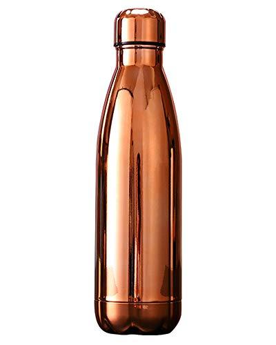 GELing 500ml Doppelwandig Trinkflasche Edelstahl Wasserflasche Vakuum Isolierflasche Mehrfarbigl,Farbe 29,500ml