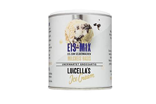Luicella's Eispulver Eis-Mix Milcheis geschmacksneutral 100% natürlich (6 Dosen)