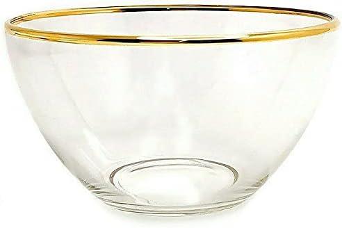 1.6 qt Large Glass Purchase Salad Mixing Border Bowl bowl Golden New life Fruit