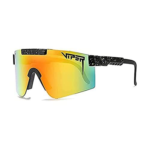 Tuozhan Gafas de sol de ciclismo, UV400, gafas de sol, ciclismo, correr, golf, pesca, resistente al viento, con lente de policarbonato para hombres y mujeres