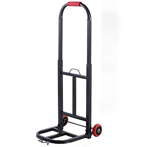 MIZE Stahl Klapp Trolley Klappbar Leichtgängige Räder mit Soft-Laufflächen und bis 30 kg,Schwarz Transportkarre für Festivals, Camping, Gartenarbeit, Angeln und Büronutzung