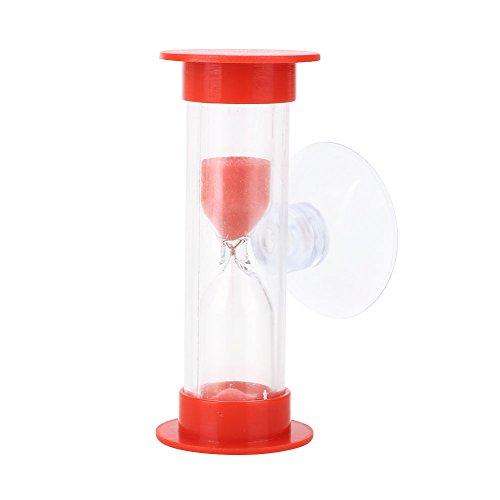attachmenttou Sablier Horloge Sablier Minuterie de Douche Pratique avec Sucker Abs Accessoires pour la Maison, Rouge