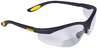 Dewalt DPG59-130C Reinforcer Rx-Bifocal 3.0 عینک ایمنی با لنزهای محافظ با کیفیت بالا با معابد لاستیکی و آستین محافظ چشم