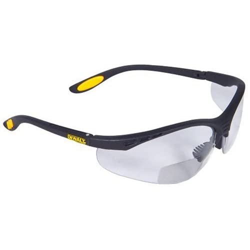 29b4896b9f Dewalt DPG59-115C Reinforcer Rx-Bifocal 1.5 Clear Lens High Performance  Protective Safety Glasses with Rubber Temples and Protective Eyeglass  Sleeve ...